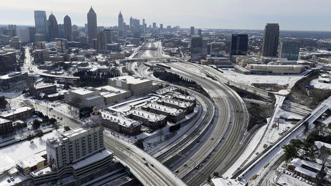 Atlanta Snow, Aerial Pic
