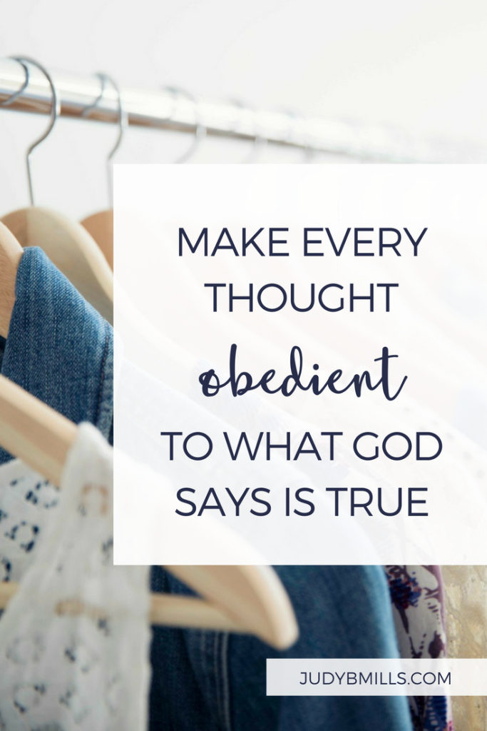 Clear out every thought and meditate solely on the goodness and enduring love of God. Bible study lessons from the books of Philippians 4, 2 Corinthians 10. 52 Ways to Glorify God by Judy Mills.