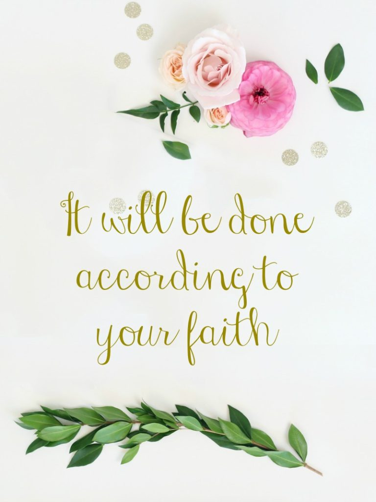 Blog Post - According to your faith