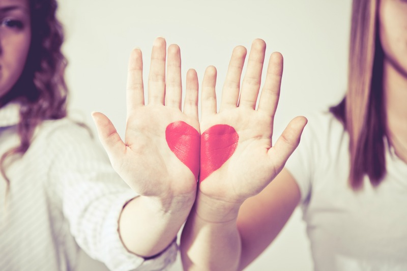 hands with heart, blog post
